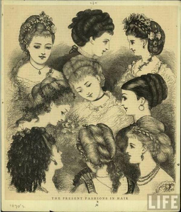1870s feminine hairstyles :: Filigrania